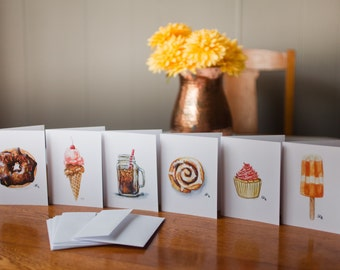 Sweet Treats Watercolor cards