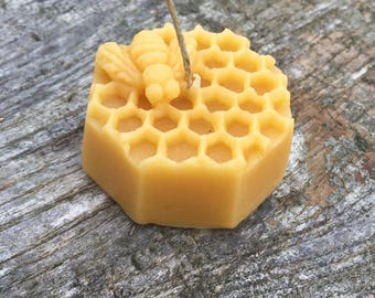 100% beeswax candle, bee candle, honey comb candle, eco candle