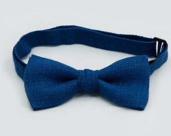 Baby Bow Tie Blue Bow Tie Adult Bow Tie Boys Bow Tie Toddler Bow Tie