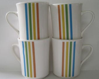 Syralite Spectrum by Syracuse China - Set of four Coffee Cups