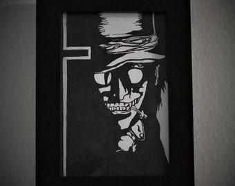 Hellsing - Alucard - Original framed ink illustration