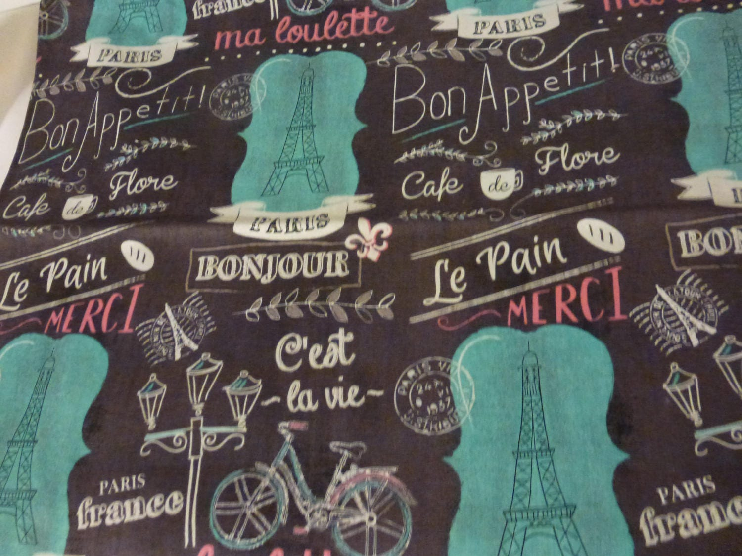 34ths yard of paris themed fabric by joanns fabrics chocolate 345 shipping gumiabroncs Choice Image