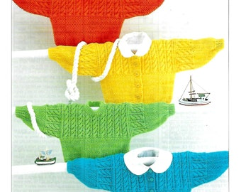 SIRDAR 3878 Baby Cardigans & Sweaters Knitting Pattern PDF Instant Download