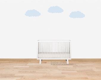 Cloud Wall Decals, Wall Decals Nursery, Nursery Wall Decal, Kids Wall Decal, Wall Decal, Wall Stickers, Vinyl Wall Decal, Wall Decal