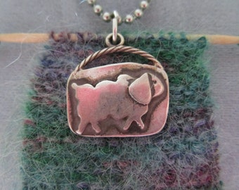 Different Necklace w/ Wool & Sheep Charm