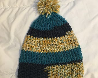 Blue and Gold Winter Hat