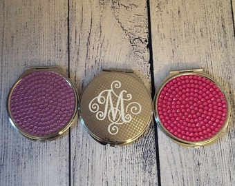 Personalized Elegant Initial Compact Mirror