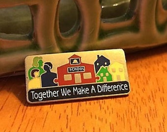 Together We Make A Difference Pin