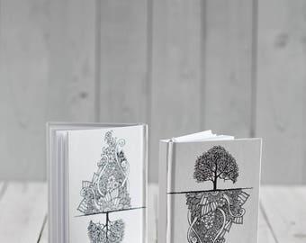 Blank two-sided notebook Jete's tree