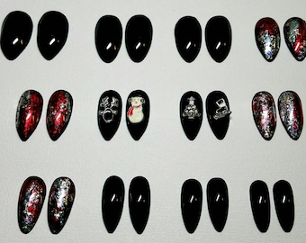Holiday Nails | Press on Nails | Glue on Nails | False Nails | Fake Nails | Christmas Nails | Snowman Nails | Reindeer Nails | Christmas