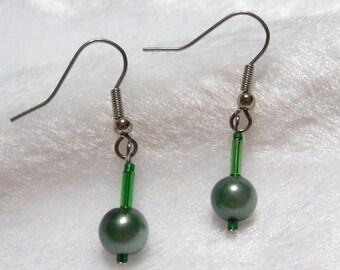 Green Earrings  E-073