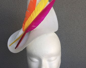 Spring Feather Fascinator