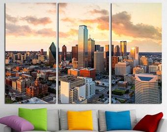 Dallas Texas Dallas City Dallas Canvas Dallas Art Dallas Print Dallas Poster Dallas Photo Dallas Wall Art Dallas Wall Decor Texas Canvas Art