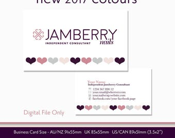 Business calling cards etsy au nail wrap consultant business card digital file personalised with your information 2017 jamberry reheart Choice Image