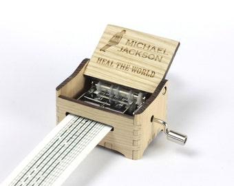Heal The World - Michael Jackson Crank Paper Strip Music Box