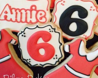"Custom Decorated ""Annie Inspired"" Sugar Cookies"