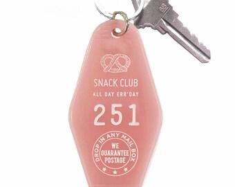 Snack Club Key Tag - Pink