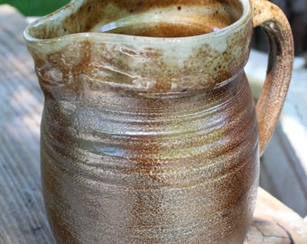 Handmade ceramic pitcher - great for mothers day - stoneware soda fired pouring vessel