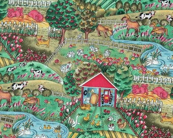 Farm Yard Fabric