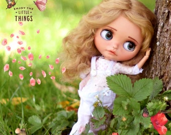 "Pure MOHAIR WIG 10-11"" Red Fox for dolls : Blythe et Neo Blythe Custom, American Girl"