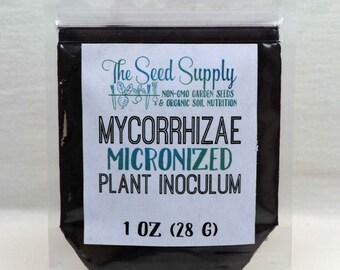 1 Ounce Endo/Ecto Mycorrhizae Plant Inoculum - Beneficial Endo Mycorrhizal Fungi - Organic Fertilizer - Root Growth