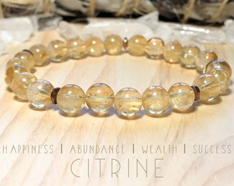 Citrine bracelet. Gemstones. High-quality.