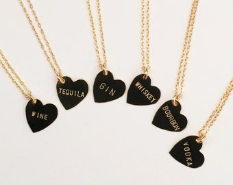 Boozy Heart Charm Necklace