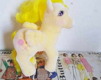 Vintage G1 My Little Pony So Soft Yellow Lofty  flocked balloon Pegasus pony wings original eighties