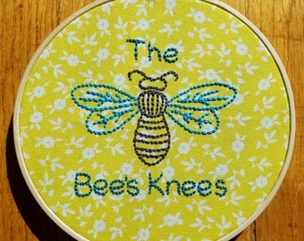 The Bees Knees Embroidery Hoop