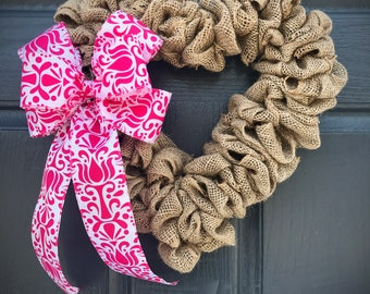 Burlap Wreaths, Heart Shaped Wreaths, Heart Wreaths, Love Gift, Baby Girl Gift, Heart Decor, Heart Decorations, Valentines Wreaths, Baby