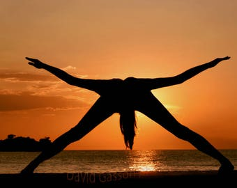 Silhouette yoga, yoga sunset, yoga asana, perfect pose, yoga silhouette,yoga art,images of yoga, yoga photo, yoga wall art,setting sun,