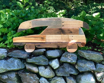 Reclaimed Wood Car and Canoe Wall Decor