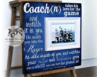 Basketball Coach Gift, Coach Gift Idea,  Soccer Coach, Football Coach, Gymnastics Coach, Baseball Coach, Picture Frame 16x16