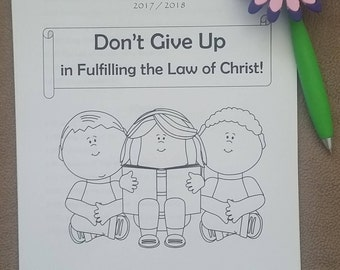 """6-12yo Circuit Assembly JW Notebook for """"Don't Give Up in Fulfilling the Law of Christ"""" with Branch Representative"""