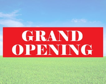 Grand Opening - Business Office Store Front Banners