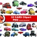 32xDisney Cars Clipart - printable Digital Clipart Graphic Instant Download (No. 54)