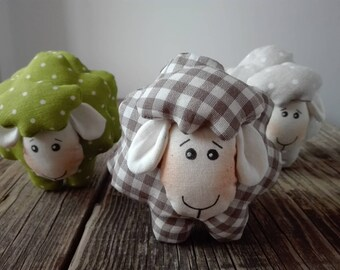 Tris of sheep home decor in Country style