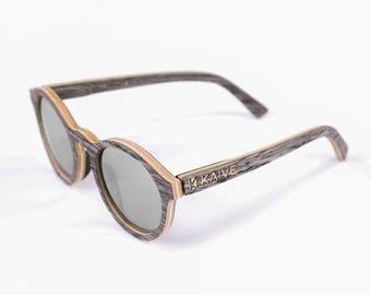 Handmade circle retro sunglasses, Wooden eyewear, Round wood sunglasses, Beach sunglasses, Gift for Him, Father gift, Graves, Hochzeit