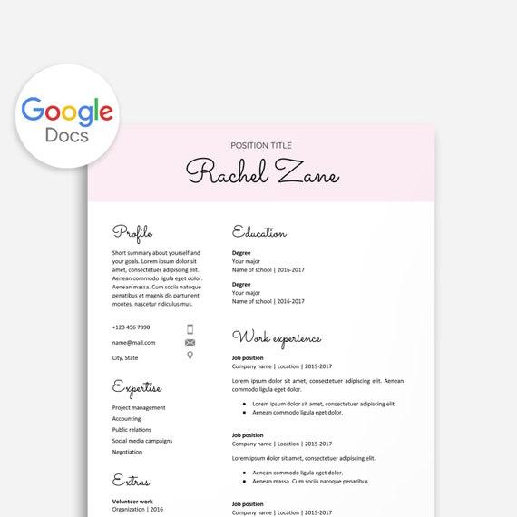 Nett Google Docs Lebenslauf Vorlage Bilder - Beispiel Wiederaufnahme ...