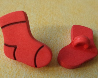 6 buttons for kids red 15 mm (5574) button socks