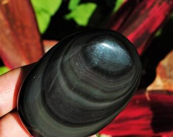 Rainbow Obsidian Therapy Stone/Massage Stone/Palm Stone #3