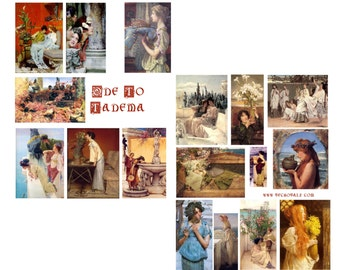 Alma Tadema Art Collage Set