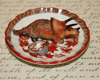 Dinosaur Triceratops Tree of Life Ring Dish Jewelry Catch All