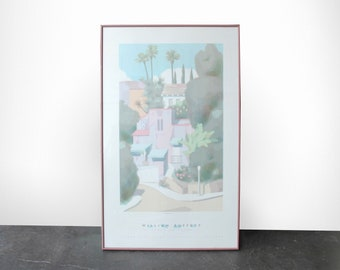 Graciosa Lithograph Poster Print by William Buffet 1986 1990 Wall Art 80s 90s