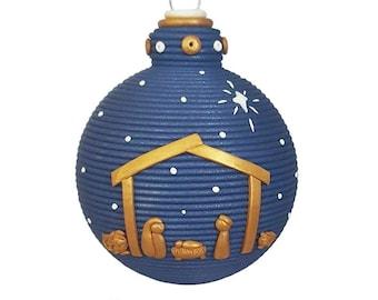 Nativity themed ornament
