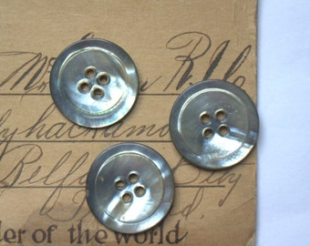 Simply Abalone Shell Button x 3