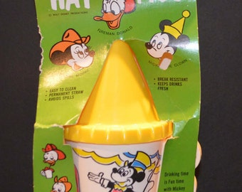 Vintage Walt Disney Hat Mug - Mickey the Clown