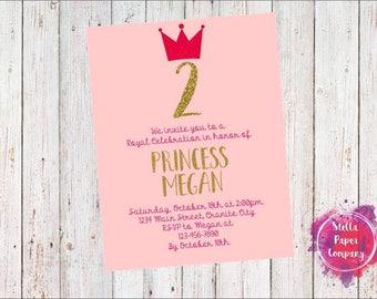 Princess Crown Party Invitation (Digital Download)