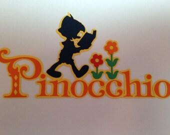 Disney's Pinocchio Sign Die Cut