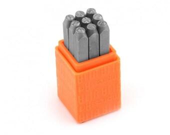 3mm BASIC BRIDGETTE NUMBERS Metal Stamp Set, ImpressArt Metal Stamping Set, tol0302
